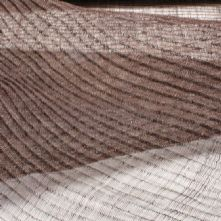 Half Price Vintage Chocolate Brown Pleated Sinamay